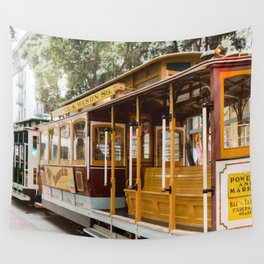 San Francisco Cable Car Wall Tapestry