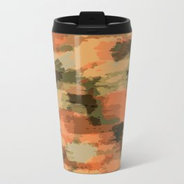 green brown orange and black painting abstract background Travel Mug