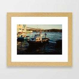 Bosphorus Boats Framed Art Print