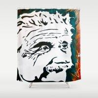 einstein Shower Curtains featuring Einstein by kingtattoo