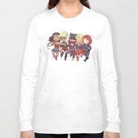 superheros Long Sleeve T-shirts featuring Super BFFs by Dooomcat
