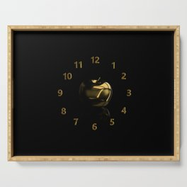 Time is money. Golden apple Serving Tray