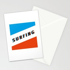 SURFING 3D - Square Stationery Cards