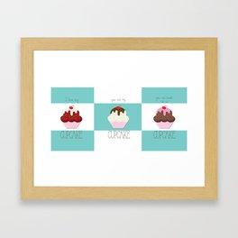 Sweet Cake Nothings Three Cakes Framed Art Print