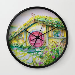Hobbit Home 1 Wall Clock