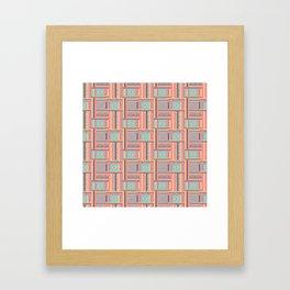 Beaded Fabric Pattern Framed Art Print