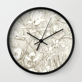 Spring time flowers Wall Clock
