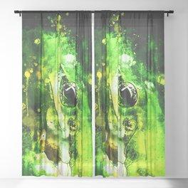 green tree frog ws Sheer Curtain