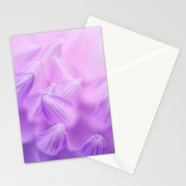 Pearl Petal Kiss | pink flower, pastel flowers, purple floral pattern, cute dahlia petals, macro Stationery Cards