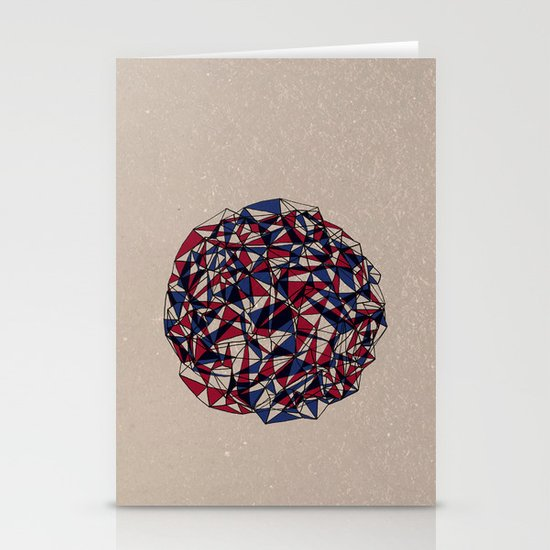 - red blue - Stationery Cards
