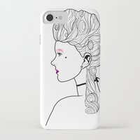 marie antoinette iPhone & iPod Cases featuring Marie Antoinette by Nicholas Darby