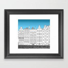 Dancing houses, Amsterdam Framed Art Print
