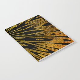 Native Tapestry in Gold Notebook