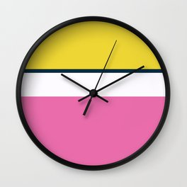 Plain color layer cake pop art print Wall Clock