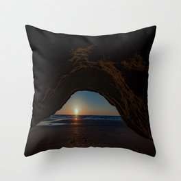The Mystic Cavern ~ Solana Beach Throw Pillow