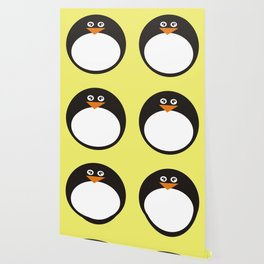 CVAn0050 Whimsical Circle Penguin Wallpaper