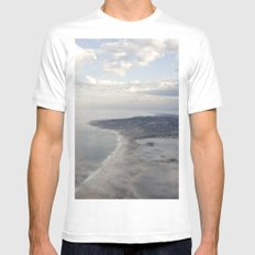 View from above Mens Fitted Tee MEDIUM White