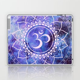 Om Mandala Purple Lavender Blue Galaxy Laptop & iPad Skin
