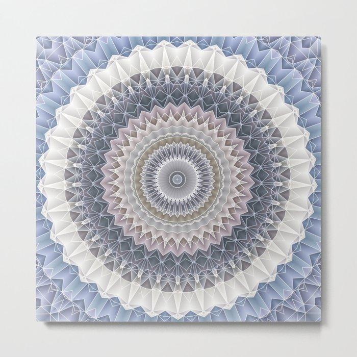 Crystal Blue Skies Mandala Metal Print