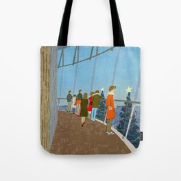How tall are these trees? Tote Bag