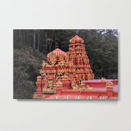 Indian Temple In Sri Lanka Metal Print
