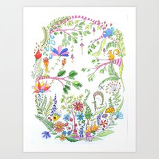 Bucolic forest Art Print