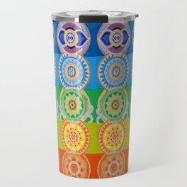 SEVEN CHAKRA SYMBOLS OF HEALING ART Travel Mug