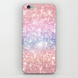 Pastel Galaxy Sparkle Stars iPhone Skin