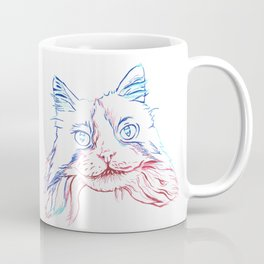 Fluffy Tuxedo Cat Coffee Mug