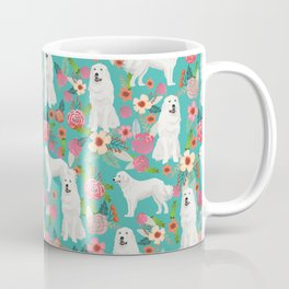 Great Pyrenees florals pattern dog breed must have dog lover gifts Coffee Mug