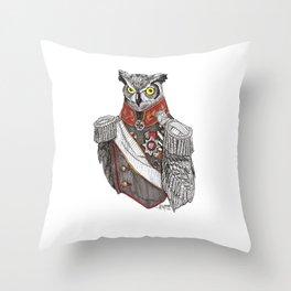 General Owlington Throw Pillow