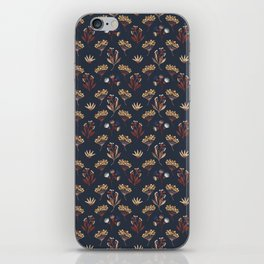 Navy Blue Seed Pods iPhone Skin
