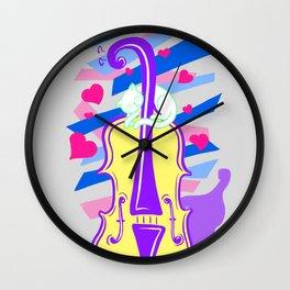 Cello Love Wall Clock