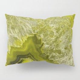 Green pantone agate mineral gem stone - Beautiful backdrop Pillow Sham