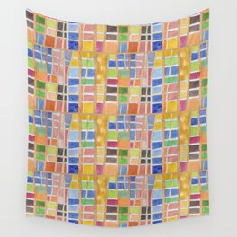 Rectangle Pattern With Sticks Wall Tapestry