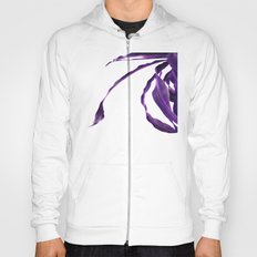 Purple tropical leaves. Hoody