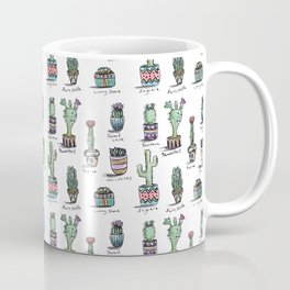 Cactus and Succulent Pattern Coffee Mug