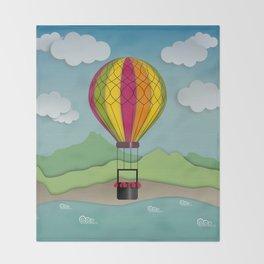 Balloon Aeronautics Sea & Sky Throw Blanket