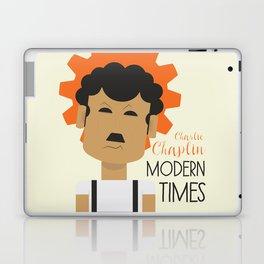 "Charlie Chaplin ""Modern Times"" movie poster, fine Art print, classic film with Paulette Goddard Laptop & iPad Skin"