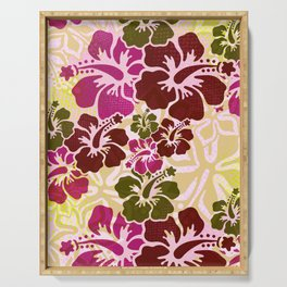 Hawaiian Hibiscus Pattern Serving Tray