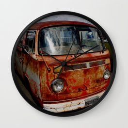 rusted bus Wall Clock