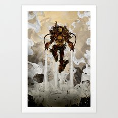 Steamy Iron Art Print