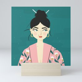 Geisha Girl Mini Art Print