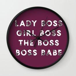 Lady Boss | Girl Boss | The Boss | Boss Babe Wall Clock