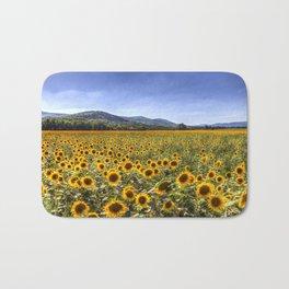 Sunflower Summer Field Bath Mat