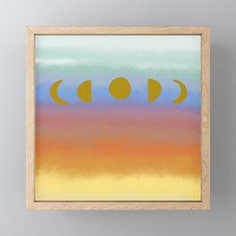 Sunset Moonrise Framed Mini Art Print
