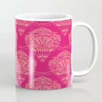 damask Mugs featuring Damask by cactus studio