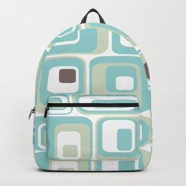 Retro Rectangles Mid Century Modern Geometric Vintage Style Backpack