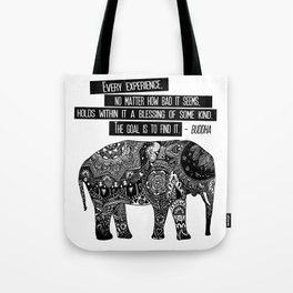 Blessing Buddha Quote Tote Bag