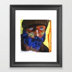 Le fauve bleu Framed Art Print
